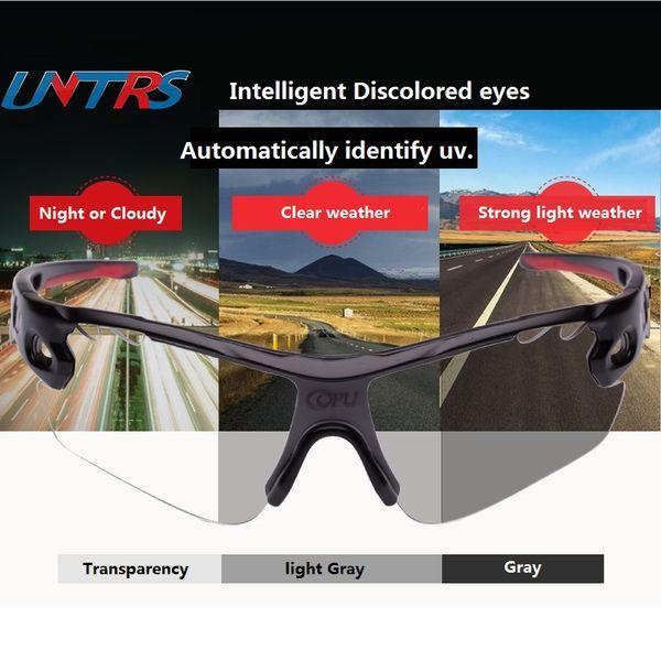 Copu Ciclismo Óculos Shading Espelho óculos Unisex Descoloração transparente de alta definição óculos de equitação MTB Estrada