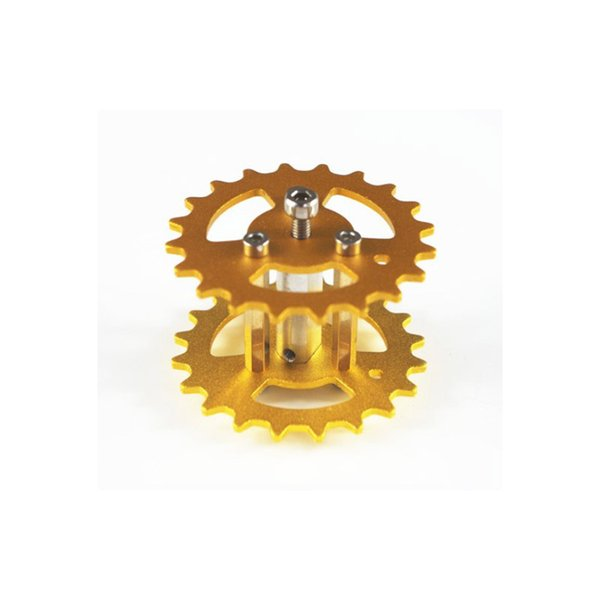 New Design Aluminum Alloy Metal Damping Driving Wheel for Toy Tank Track Caterpillar Car Chassis