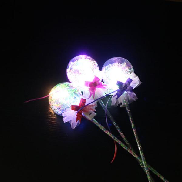 Горячий мигающий Прекрасный новый Crown Star LED Бал мигающий палочки Детские девушки Light Up Butterfly Flower Жезл Палочки День рождения Glow партии игрушки