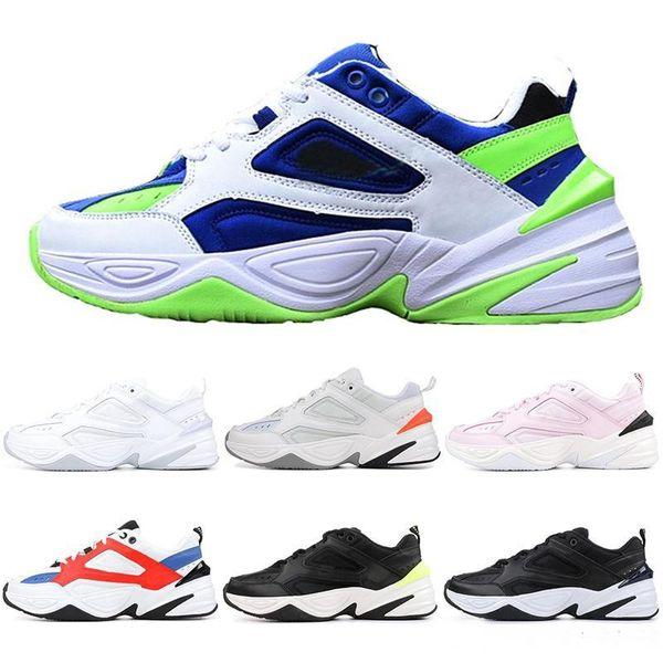 Nike Air Max 2019 Zapatos De Moda De Alta Calidad Mujer Hombre NUEVO M2K Tekno Papá Diseñador Zapatillas Negro Blanco Naranja Zapatillas De Deporte