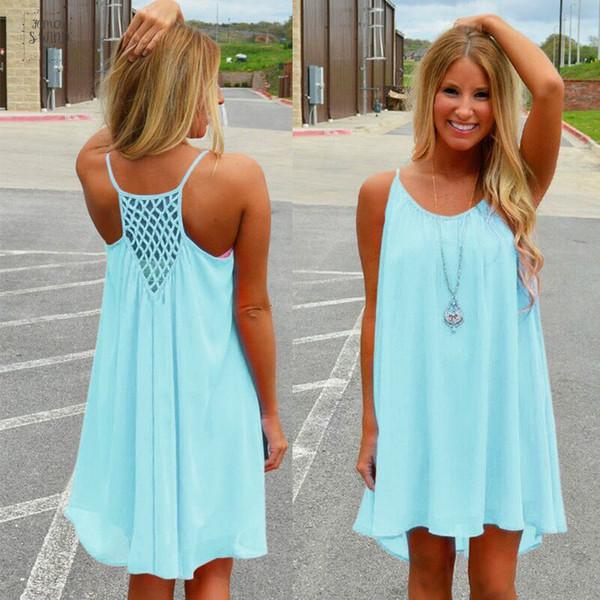 Voile-Kleid-Frauen Kleid Fluorescence Female-Sommer-Kleid-Chiffon- beiläufigen Frauen-Kleid-Sommer-Art-Frauen Kleidung Plus Size