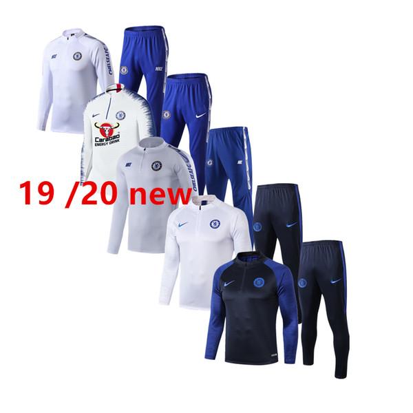 mejor calidad de nuevo 19 20 mens Chel Morata chaqueta de chándal 2020 Fabregas sudadera con capucha del jersey de fútbol de Peligros Giroud traje de entrenamiento sportwe