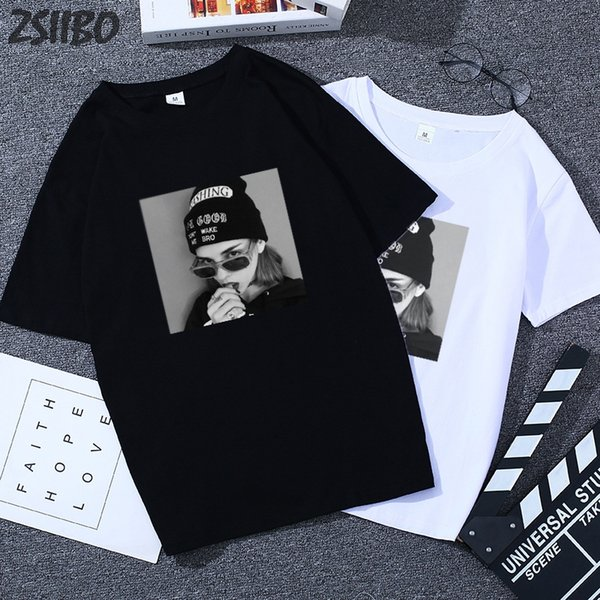 Летняя Harajuku свободная женская футболка была худой студентка дикий уличный футболка с короткими рукавами повседневная секция женская футболка топы майки