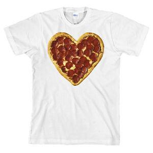I Heart Pizza T Shirt Love Slice Food Porn Tee *ALL SIZES & NEW*