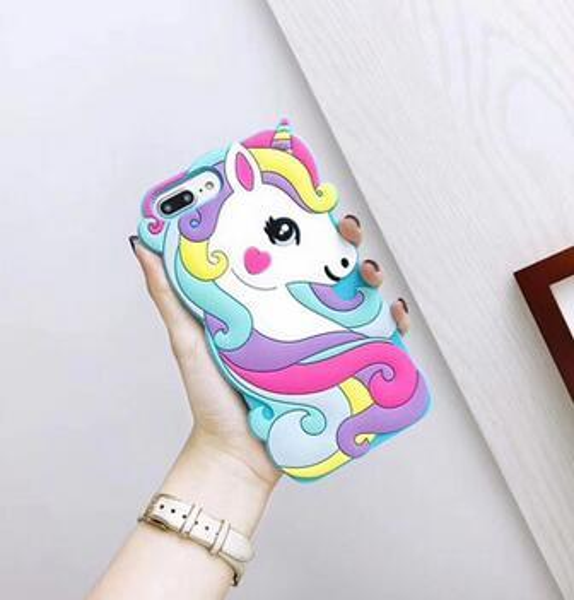 10 ePacket Unicorn coque de téléphone portable iphone 6 6s 6p 6sp7 8 7p 8p x xr xs Couleur manchon de protection en gel de silice cheval