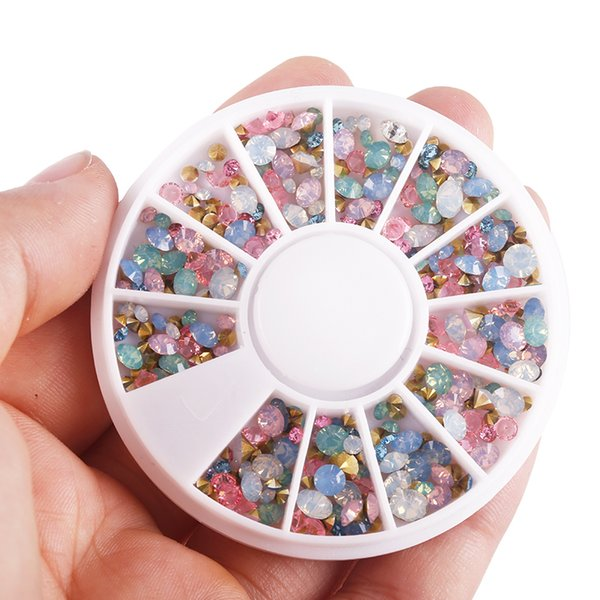 3d Rhinestones For Nails Art Decorations Accessories Studs Manicure Diy Gel Polish Crystal Design Nails Wheel