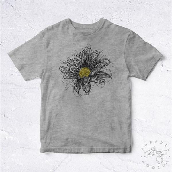 NEW Tee Shirt Marguerite Daisy Draw BIO Fleur Flower Nature Earth Organic World Funny free shipping Casual Tshirt top