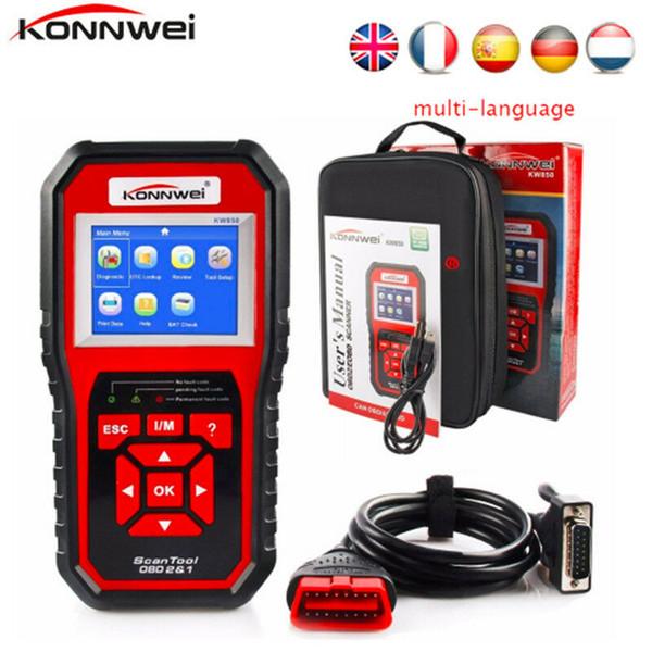 Konnwei ScanTool KW850 OBD2 Strumento di diagnostica per auto OBD Auto Lettore di codice diagnostico
