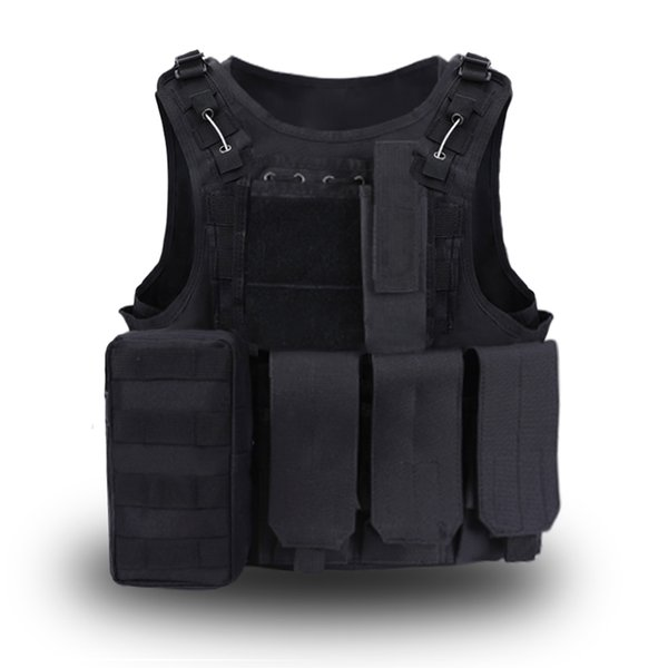Tactical Vest Outdoor Molle Combat Assault Plate Carrier Tactical Hunting Vest Paintball Protective Waistcoat