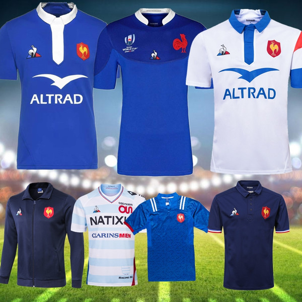 best selling 2019 France Rugby World Cup Jerseys 18 19 France Shirts Rugby Maillot de Foot French BOLN Rugby shirt