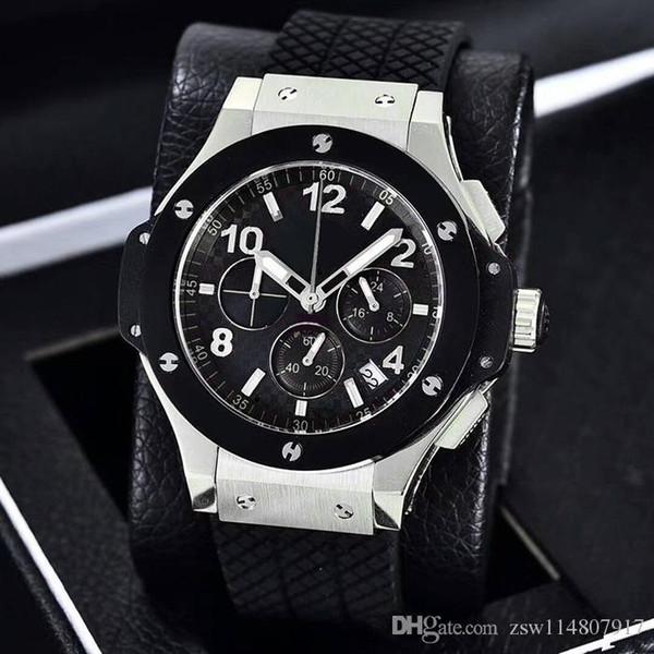 Watches Men Quartz Chronograph Full Diamond Fashion Stainless Steel Sapphire WristwatchQuality Multifunction Mens Watch