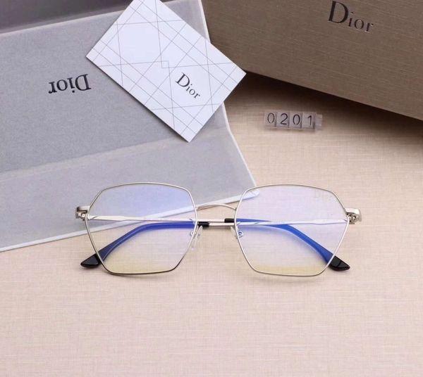 Designer de óculos de sol de luxo homem óculos de sol designer de marca de óculos d0201 míopes óculos anti-azul óculos 5 cores de alta qualidade com caixa