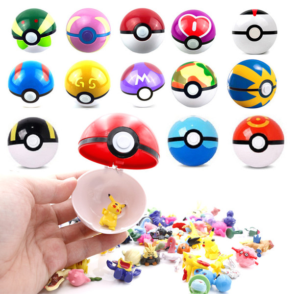 7cm Anime Cartoon Pikachu Ball Hard Sphere Animation Toys gift Decoration Monster Tiny Tots Room Decor free shipping