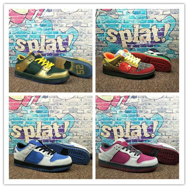 2019 Yeni renk eşleştirme Sb Dunk Düşük PRO QS Kadınlar Erkek Spor ve eğlence kaykay ayakkabı Boyutu 36-45