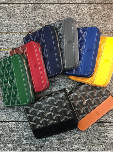 Famoso Designer Men Zipper Carteiras Mulheres Clutch GoyardBags Bolsa por Homens