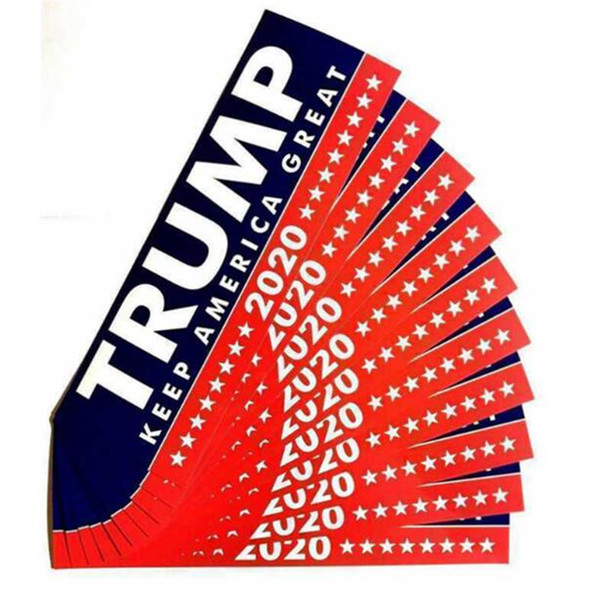 best selling Donald Trump 2020 Car Stickers Bumper Sticker Keep Make America Great Decal for Car Styling Vehicle Paster Novelty Items Trump Stickers