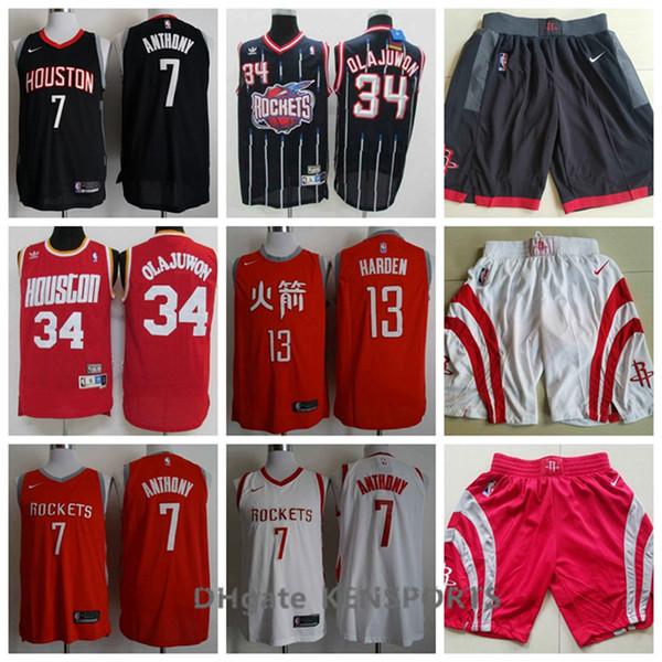 online retailer 93907 9732e 2019 Retro Men The New Houston Basketball Rockets City Edition Jersey 13  James Harden 3 Chris Paul 34 Hakeem Olajuwon Stitching Jerseys From  Sagala01, ...
