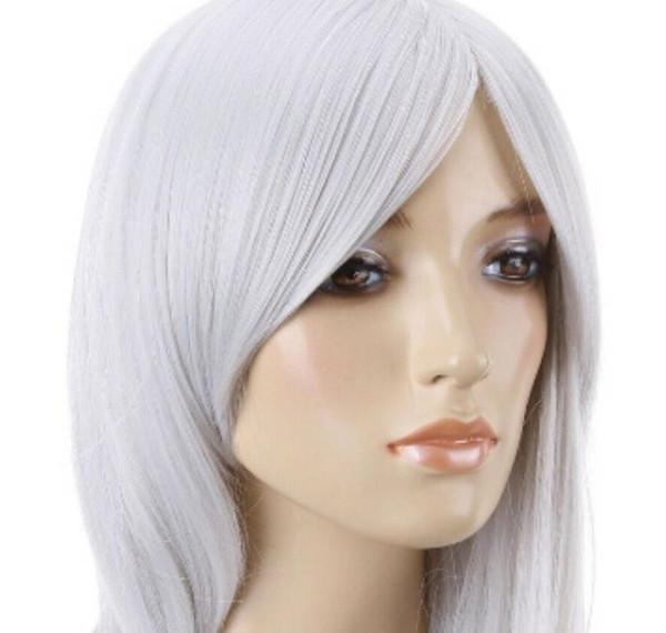 Wig LL USPS para EUA Moda Mulheres Ondulado Calor Longo Luz Loira Cosplay Peruca Cheia Do Cabelo 150320 w00913 (C0321)