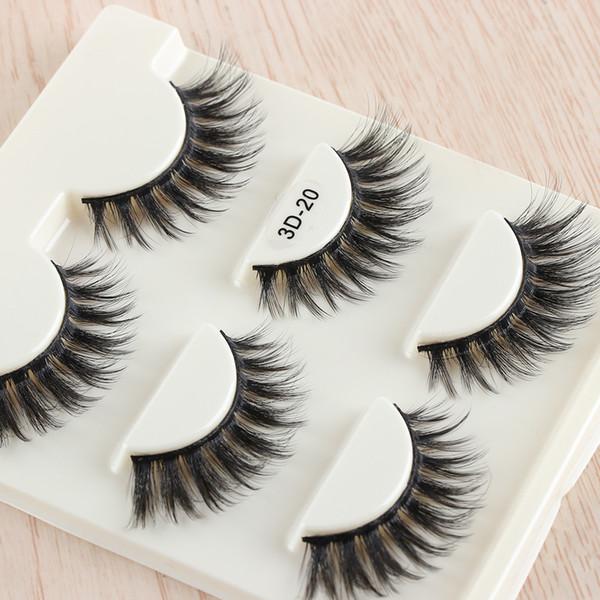 3 пары реальные 3D норки волосы ресницы красота толстые длинные ложные норки ресницы расширение тонкий флаттер макияж инструменты