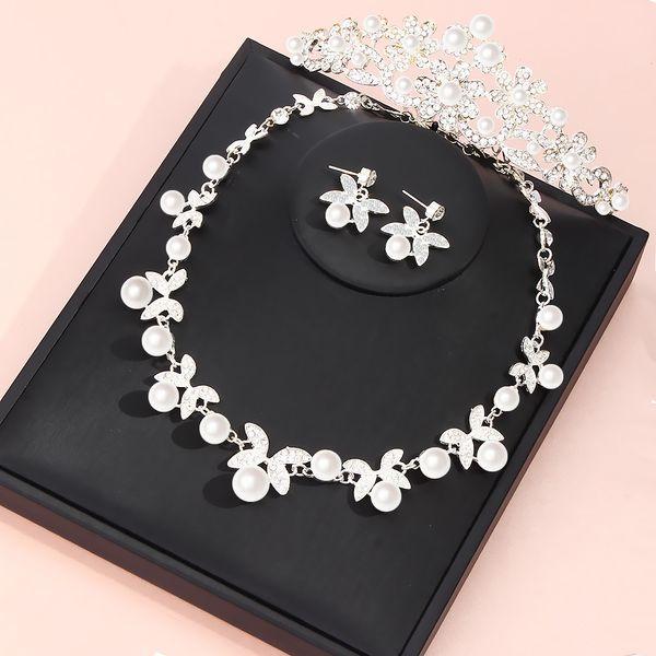 Farlena Wedding Jewelry Set Fashion Crystal Pearl Necklace