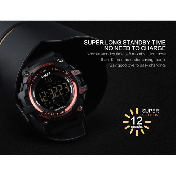 EX16 intelligent Montres numérique Fitness SmartWatch Calories Podomètre imperméable Calculatrice extérieur Sport intelligent Wristwatch
