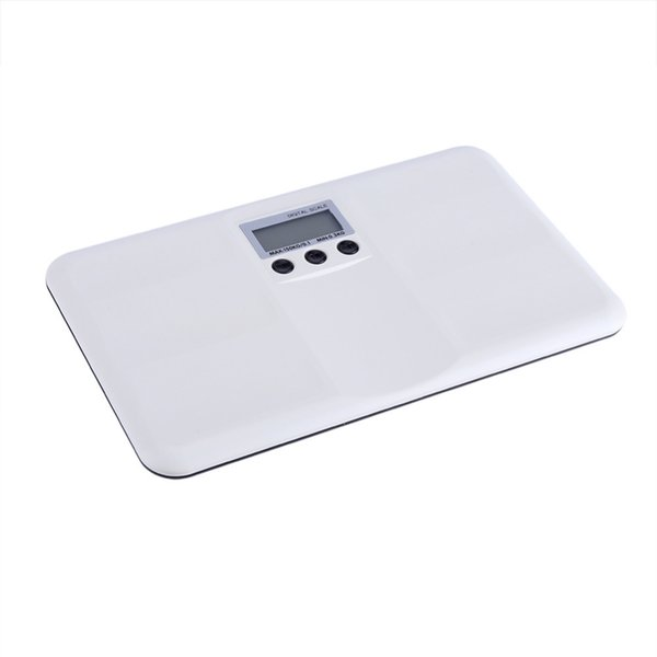 Electronic LCD Digital Weighting Scale On/Tare Function Battery/Lock Alarm Baby Pet Body Weighting Scale D19011702