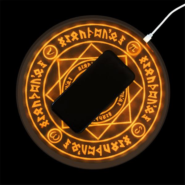 Universal magic círculo sem fio carregador qi sem fio rápido rápido de carregamento pad para iphone x xs 8 samsung xiaomi huawei honor