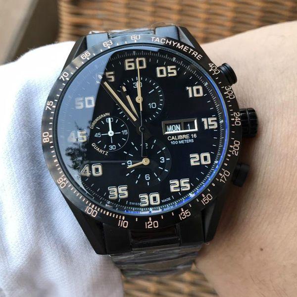 TA mens relojes reloj automático marca famosa moda día fecha 44mm cara impermeable reloj mecánico buena calidad
