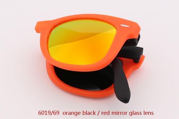 6019/69 برتقالي أسود / أحمر عدسة مرآة