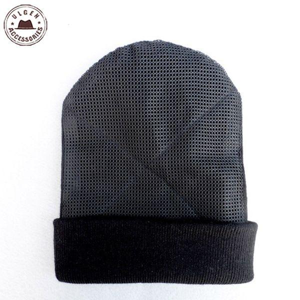2016 New BBoy hip hop dancing Hat men's mesh hat beanies Warm Rotating beanies black for men