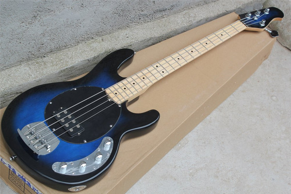 best selling Hot sale New 4 strings Blue Body Electric Bass Guitar with Chrome hardware,Maple fingerboard,offer customize