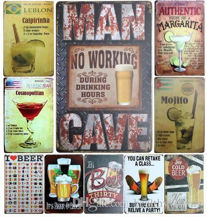 tin home decor.htm 2019 whiskey wine cocktail beer vintage home decor tin sign 8x12  2019 whiskey wine cocktail beer