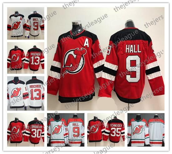 New Jersey Devils New Brand Mens Womens Youth #9 Taylor Hall 13 Nico Hischier 30 Martin Brodeur Blank Stitched Red White Hockey Jersey