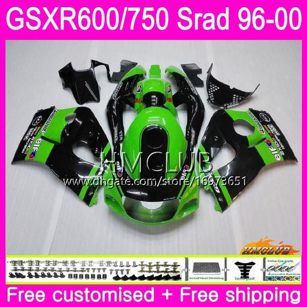 Body For SUZUKI SRAD GSXR 750 600 Green Black 1996 1997 1998 1999 2000 Kit 1HM.4 GSX-R750 GSXR-600 GSXR750 GSXR600 96 97 98 99 00 Fairing