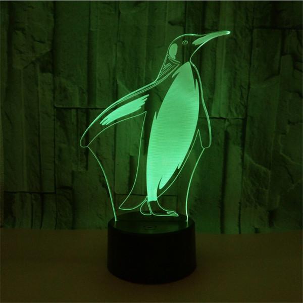 Luci RGB economiche Base lampada a LED Telecomando IR 5 ° scomparto batteria Interruttore di tocco della luce ottica 3D Novità Lampade da tavolo Illuminazione all'ingrosso
