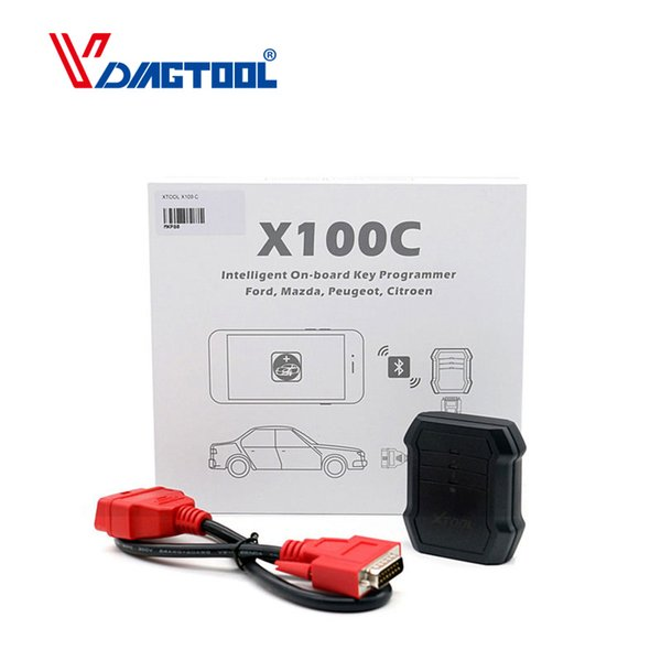 XTOOL X100C X100 C Auto Key Programmer for Fo-rd/Mazda/Peugeot/Citroen 4 in 1 pin code reader better than F100 F108 F102