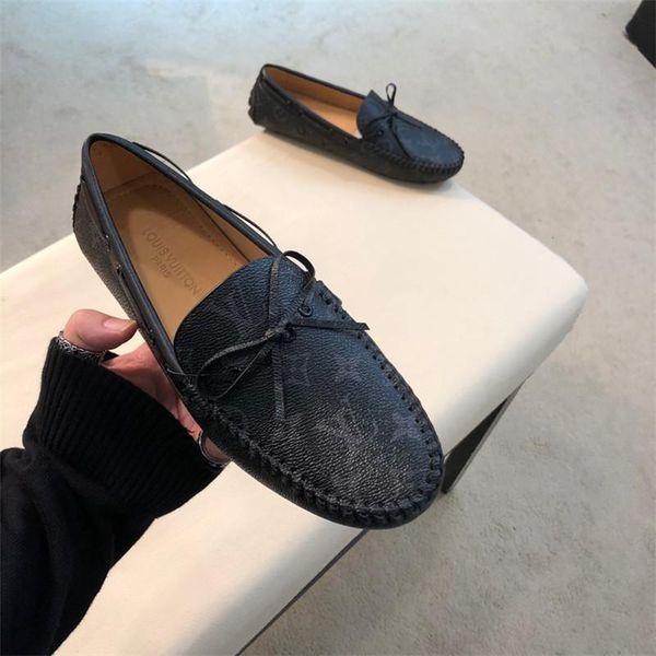 Novo de Alta Qualidade sapatos de Vestido de Couro Real masculino 2 Cores Estilo Escritório de Negócios Casuais Sapatos Formais de Casamento Confortável Para Homens tamanho 38-45