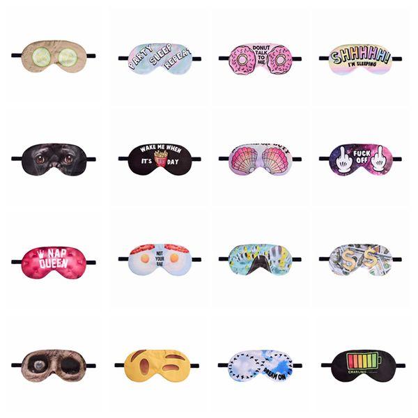 Göz Güzel Göz Bakım Gölge Gözbağı Uyku Maskesi Gözler Kapak Sleeping Araçlar Maske Sleeping 3D Baskı Göz Uyku Maskeleri