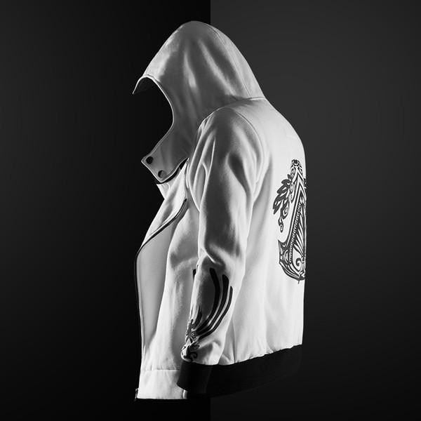 ZOGAA Felpa con cappuccio da uomo Felpa a maniche lunghe Slim Fit Felpa con cappuccio maschile con cerniera Assassin Master Cardigan Creed Jacket Plus Size S-5XL
