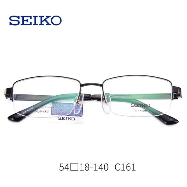 SEIKO Titanium Lunettes Cadre Hommes Myopia Eye Verre Lunettes De Vue Des Montures Optiques Légères Lunettes Eyewear + 1.60 Lentilles Transparentes
