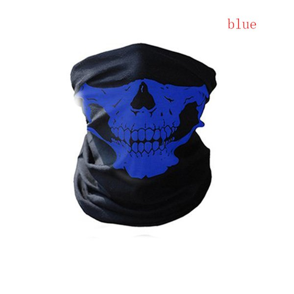 Bicycle Ski Skull Half Face Mask Ghost Scarf Multi Use Neck Warmer COD cycling outdoor accessories