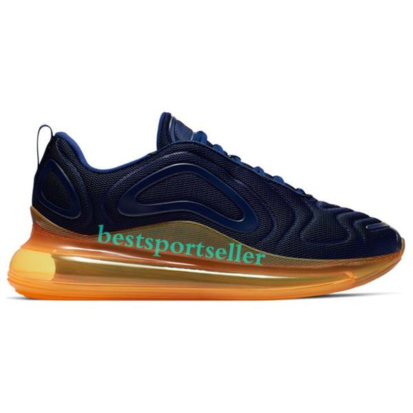 Orange laser de minuit bleu marine