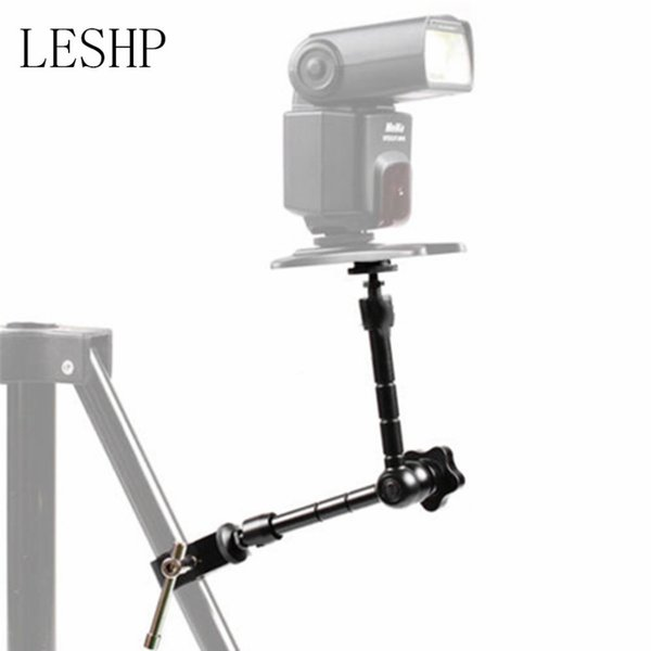 Freeshipping 11 inch Universal Adjustable Fixed Bracket Magic Arm + Super clamp For Camcorder Photo Studio LCD Monitor Led Flash Light