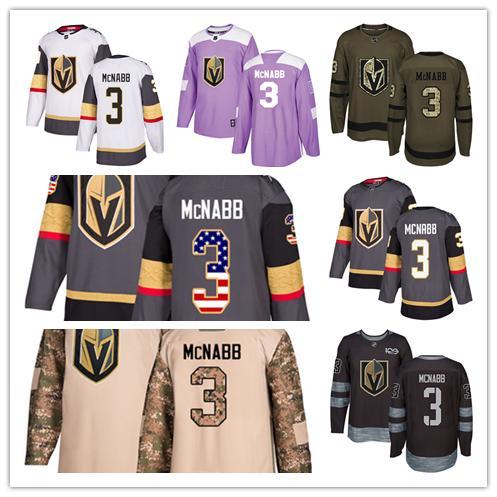 Vegas Golden Knights jerseys #3 Brayden McNabb jersey ice hockey men women gray white black Authentic winter classic Stiched gears Jersey
