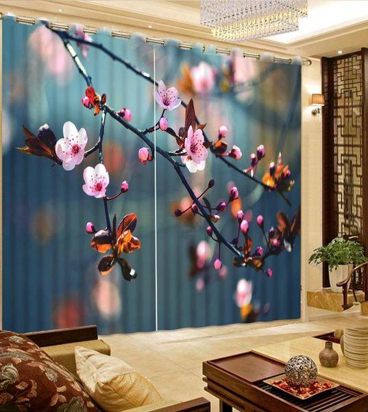 cortina 3D personalizar cortinas filial flor para sala de estar cortinas do quarto bens de casa