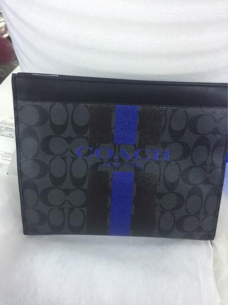 Bolsas de grife Mens Sacos De Moda Sacos De Couro Venda Quente Nova Chegada Moda Homens Maleta Preto Azul Quadrado Estilo Bolsas com letra