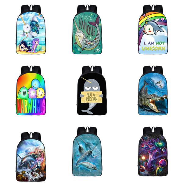 Ragazze Unicorn Mermaid zaino 10 spalle Custom Design 3D lo zaino di alta qualità di scuola della ragazza del ragazzo Cartoon Mermaid sacchetti della chiusura lampo 06