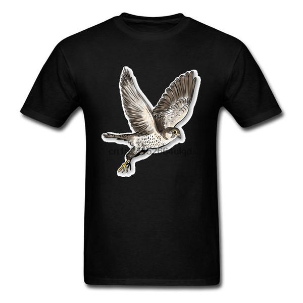 Falcon Kuşlar Hayvan T Shirt Kendi Tasarım Elbise Gömlek Yaz Sonbahar Tops Gömlek Özel Tee Gömlek Tops Pamuk Kumaş Giysiler