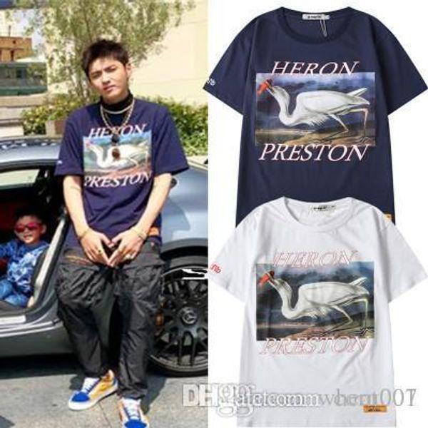 19SS Summer Style Heron Preston T-Shirt Uomo Donna Cotone di alta qualità Heron Preston Tee Hip Hop Streetwear Heron Preston T-Shirt