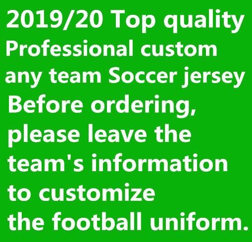 2019 2020 Top qualité personnaliser N'importe quelle équipe Maillot de Football 19 20 Uniforme de Kit de football Messi M.SALAH Kane Shirts 10 pcs DHL gratuit!